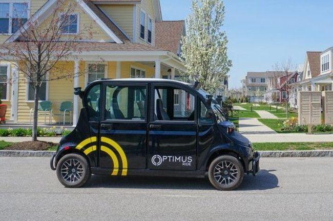 Автономные поездки на микроавтобусе Optimus Ride в Нью-Йорке