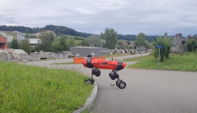 ETH Zurich оборудовал колесами шагающего робота ANYmal