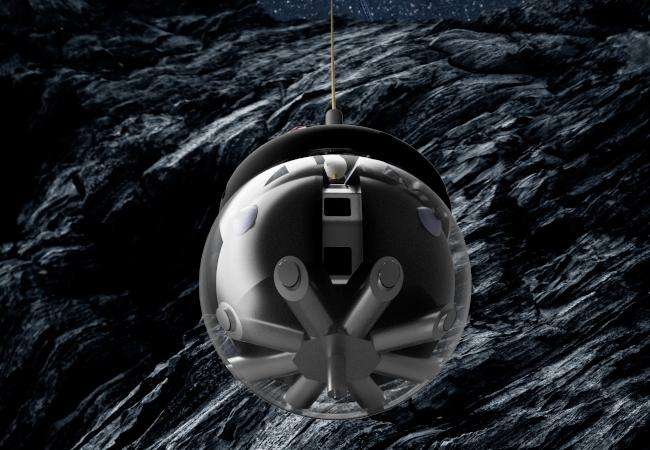 ЕКА тестирует роботизированный шар для исследования лунных пещер